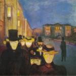 1892 soir rue Karl Johan